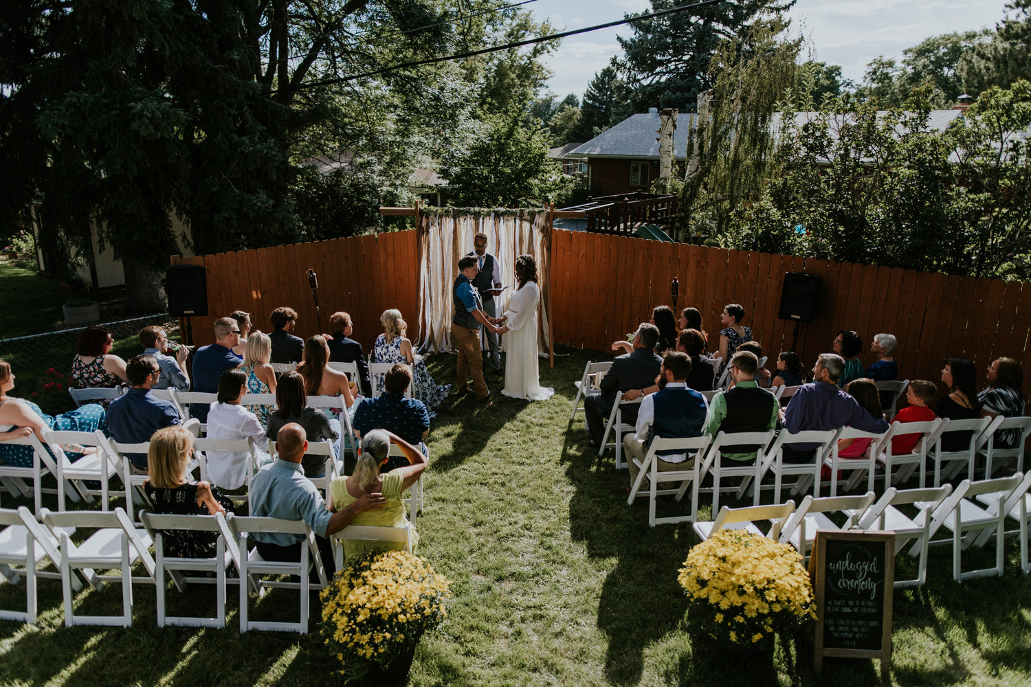 intimate backyard wedding colorado elopement photo video