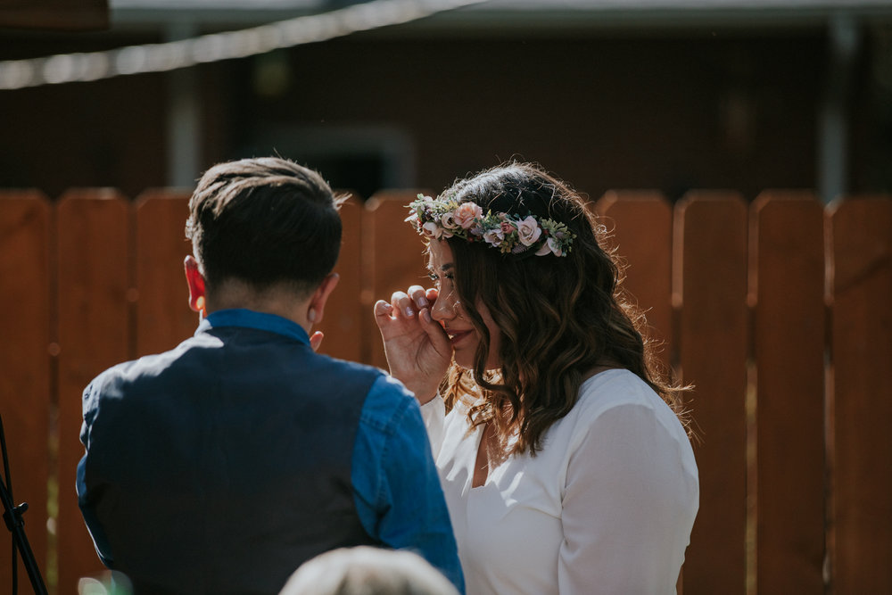 Colorado Intimate Wedding Photographer - Backyard Wedding - Vow of the Wild