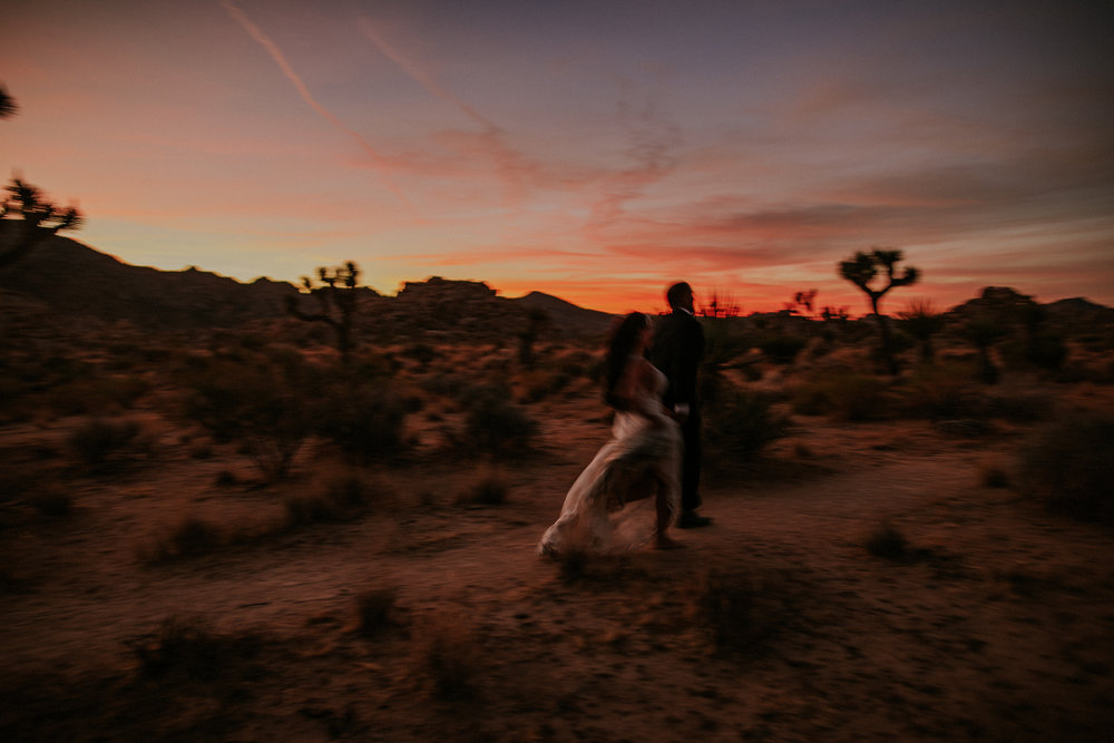 Amanda + Hass | Joshua Tree Elopement Photo + Video | Click to read their story