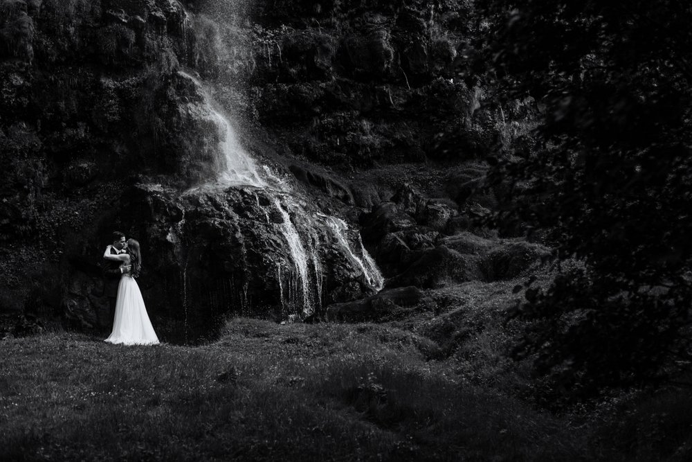 Iceland Wedding Photographer - Vow of the Wild - Vik South Iceland Wedding - Waterfall