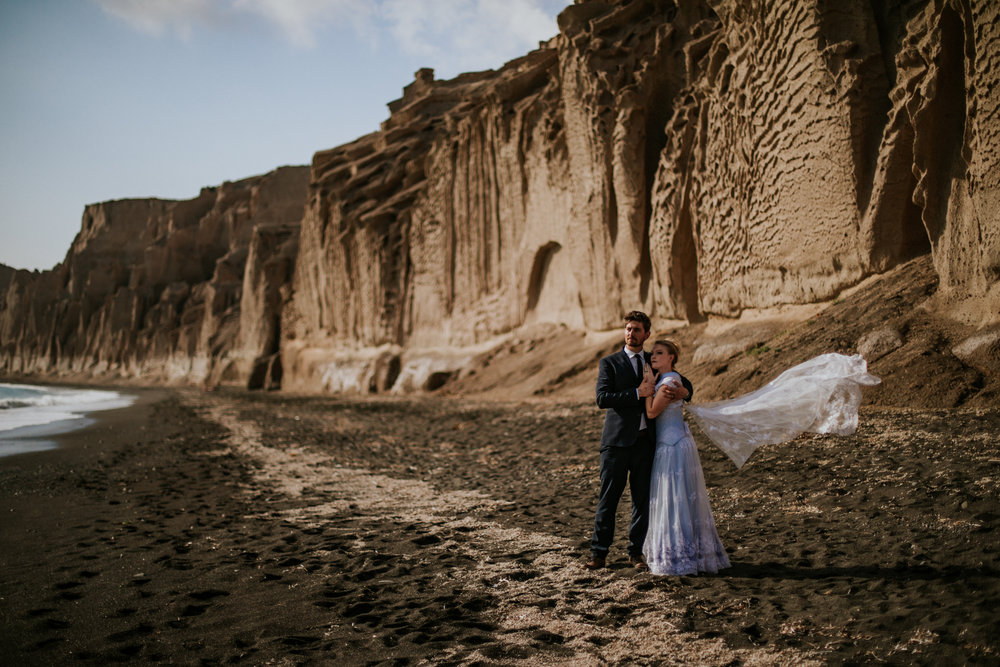 Whitney + Chris | Santorini, Greece Elopement Photo + Video | Click to read their story