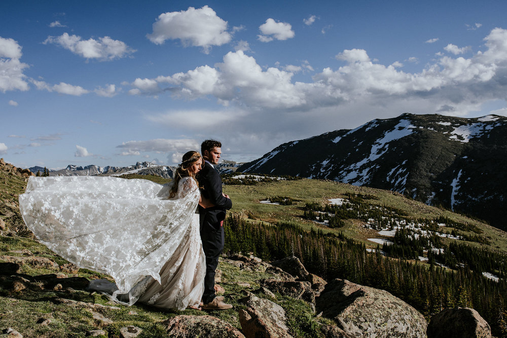 Angela + Jason | Rocky Mountain National Park | Colorado Elopement Photo + Video