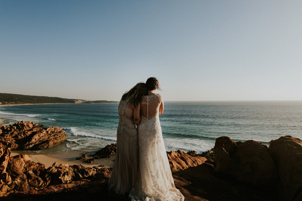 Catie + Jessica | Western Australia Elopement Photo + Video | Click to read their story
