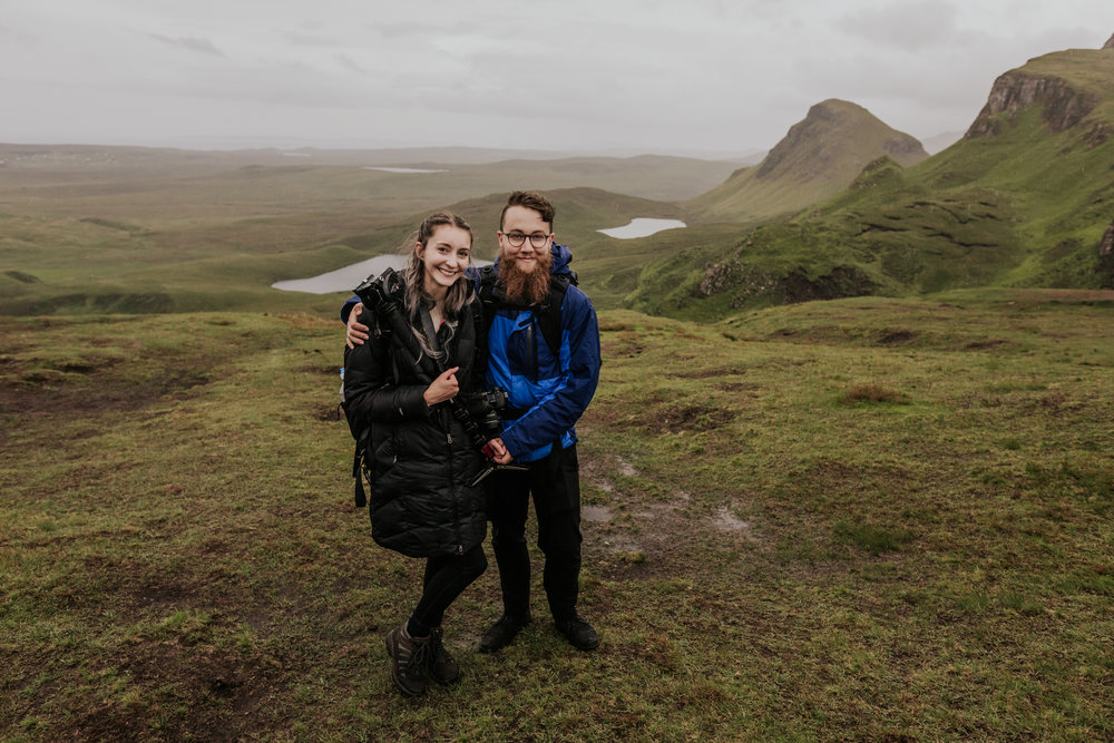 Us at the end of  Carson + Justin's  Isle of Skye elopement