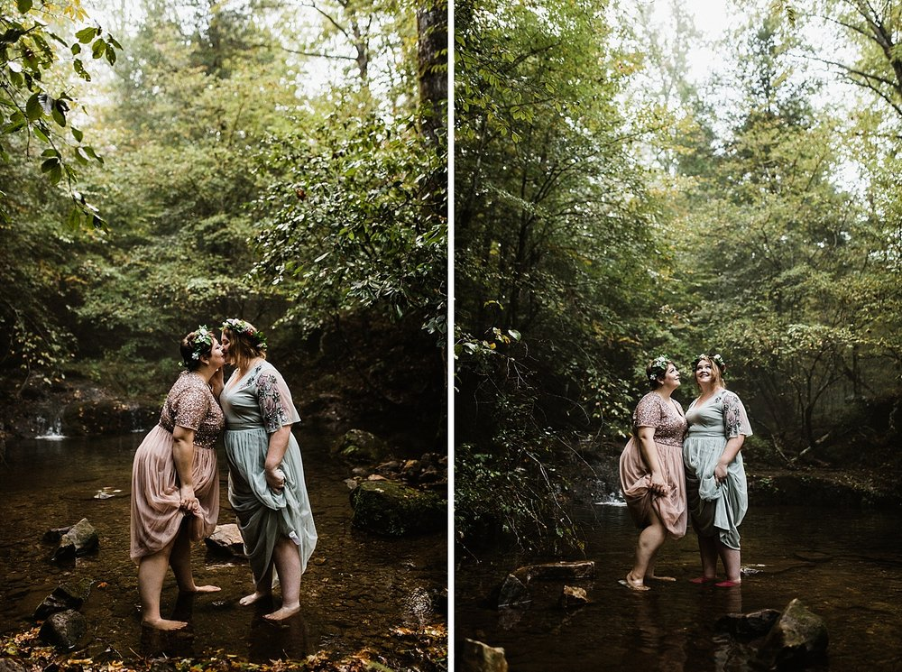 Adventurous Forest Elopement | Destination Elopement Photographer + Videographer | Same Sex Elopement | Vow of the Wild