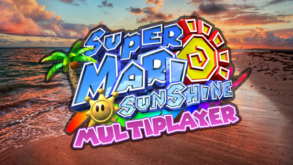 Super Mario Sunshine Multiplayer Logo for JoshJepson on Twitch and Bounceyboy on Twitch