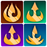 Fire Nation emblem sub badges for FireLordBrooke on Twitch