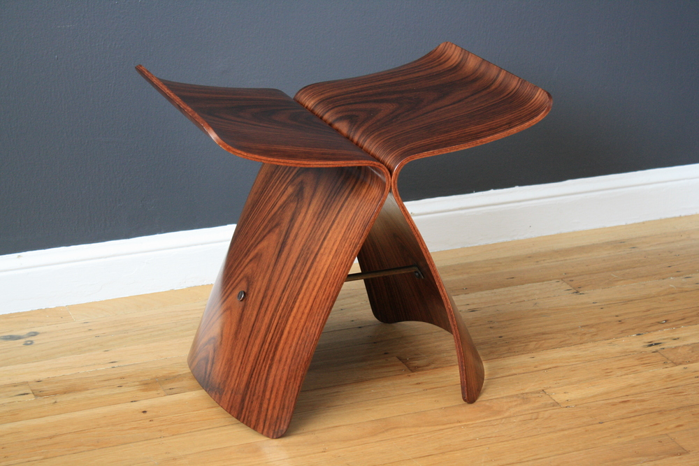 "Vintage ""Butterfly"" Stool by Sori Yanagi"