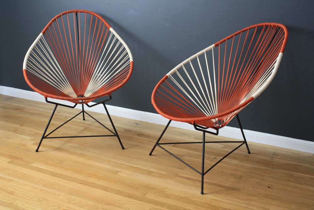 Pair of Vintage Mid-Century Acapulco Chairs