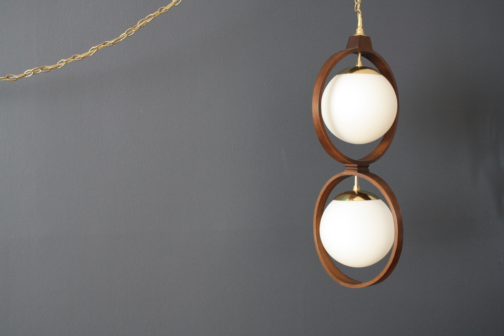 Copy of Vintage Mid-Century Modeline Hanging Lamp