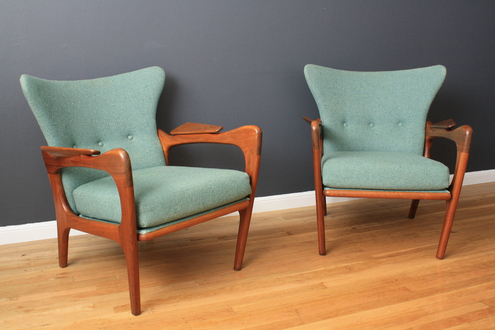 Copy of Pair of Mid-Century Modern Lounge Chairs by Adrian Pearsall