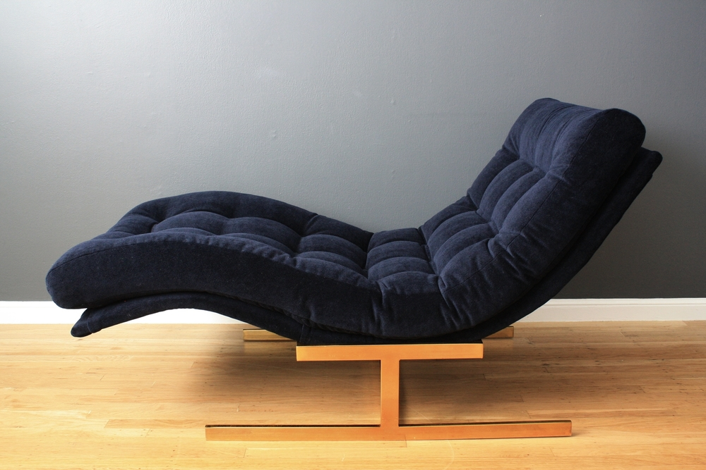 Vintage Mid-Century Milo Baughman Chaise