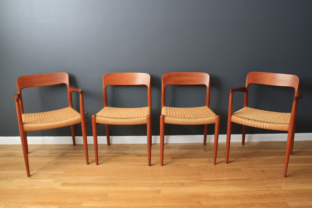 Copy of Set of Four Vintage Moller Dining Chairs