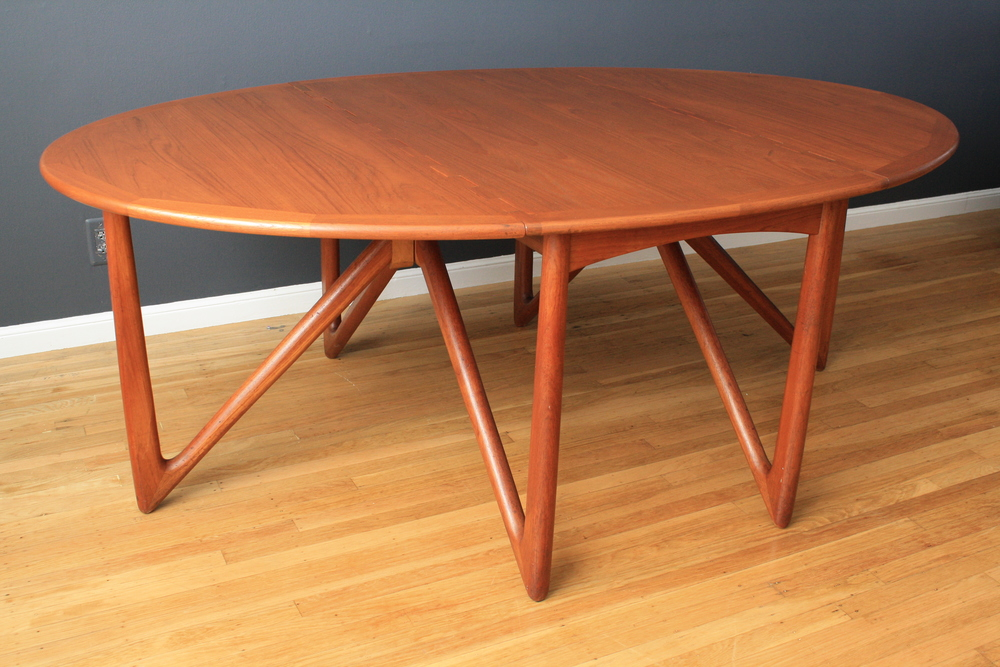 Copy of Danish Modern Dining Table by Kurt Ostervig
