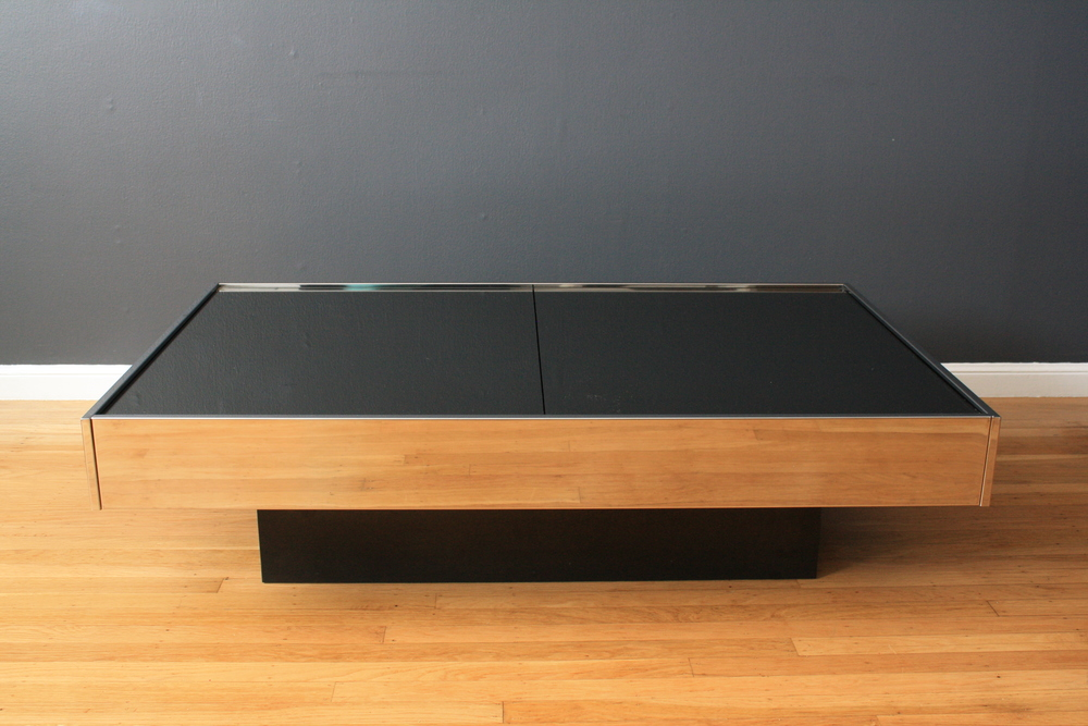 Vintage Coffee Table by Willy Rizzo for Cidue Italy