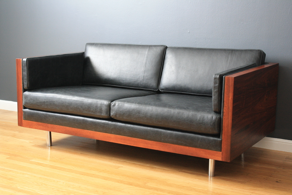Copy of Milo Baughman Rosewood Case Settee