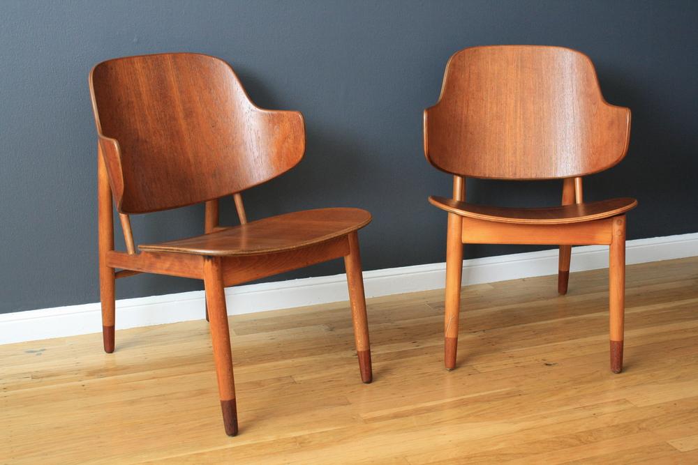 Copy of Pair of Danish Modern Chairs by IB Kofod Larsen