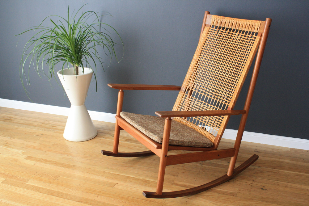 Vintage Hans Wegner Rocking Chair