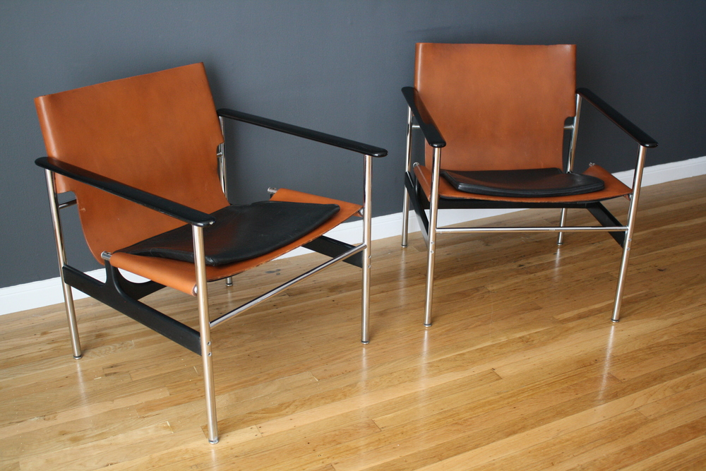 Copy of Pair of Charles Pollock for Knoll Lounge Chairs