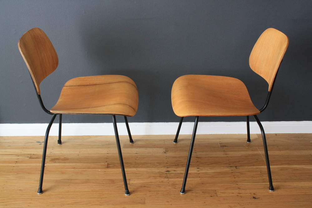 Pair of Vintage DCM Chairs by Charles and Ray Eames for Herman Miller