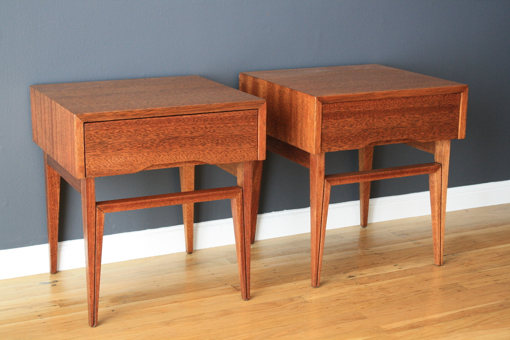 Vintage Night Stands/End Tables by John Keal for Brown Saltman