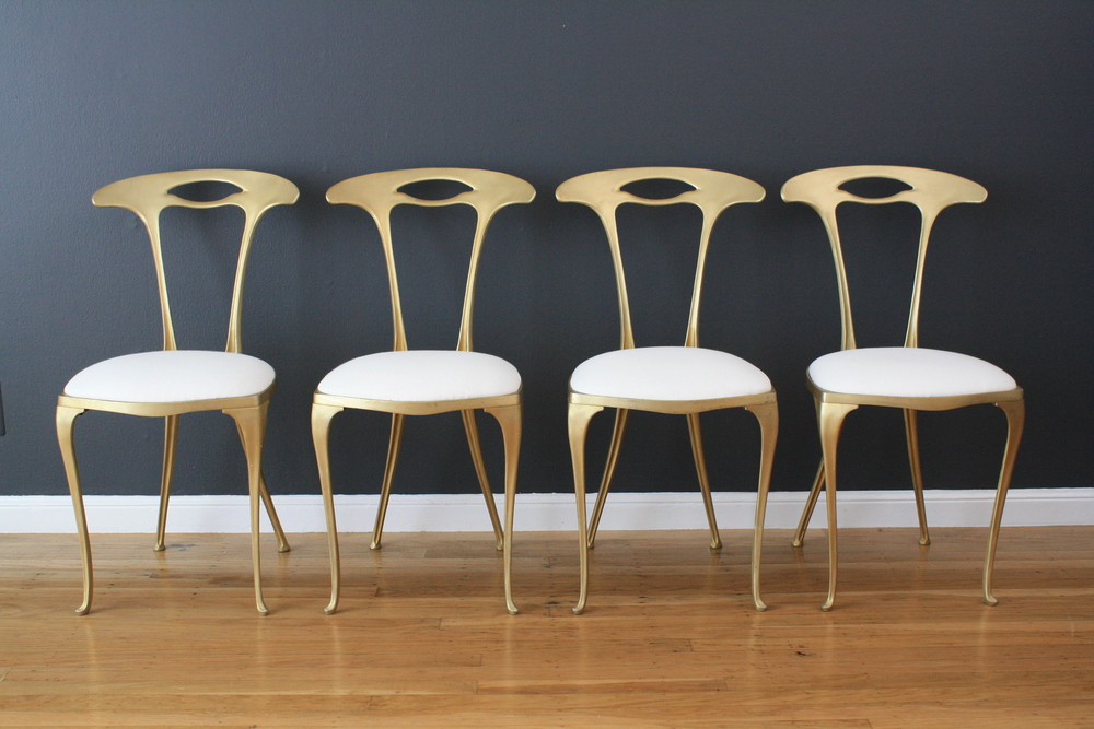 Set of Four Vintage Italian Chairs by Palladio