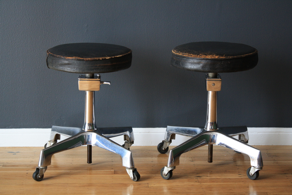 Copy of Pair of Vintage Industrial Stools