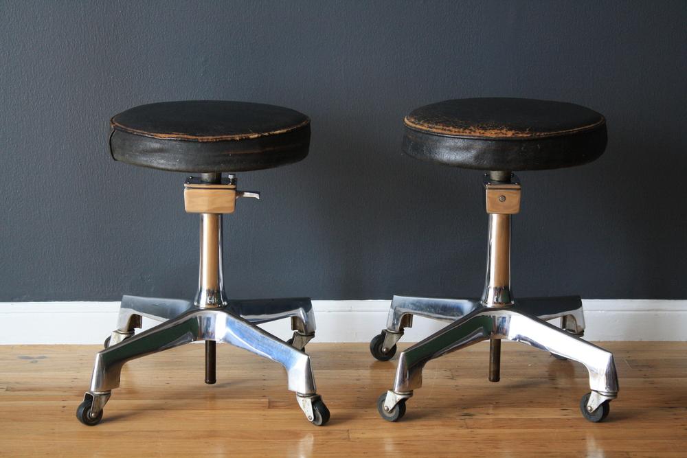 Copy of Pair of Vintage Industrial Stools