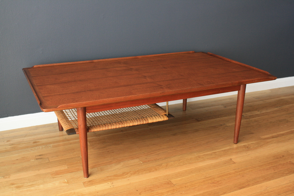 Copy of Danish Modern Teak Coffee Table by Selig