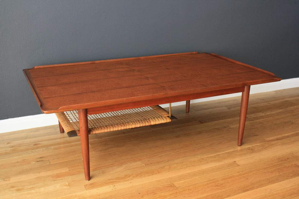 Copy of Danish Modern Teak Coffee Table by Selig