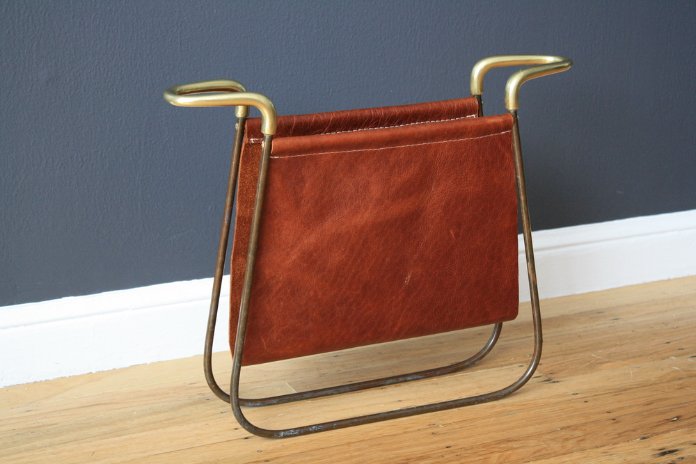 Vintage Magazine Rack by Carl Aubock