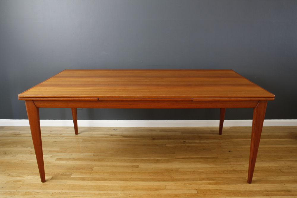 Vintage Teak Dining Table by Neils Moller, Model #12
