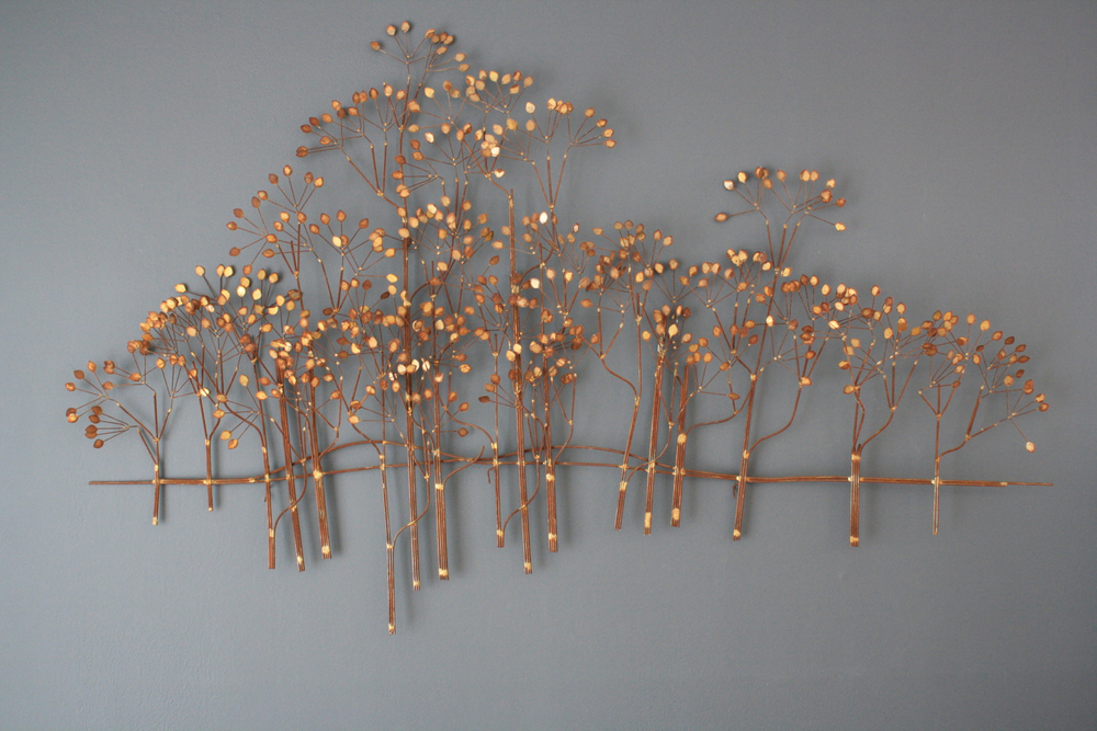 Vintage 'Forest' Metal Wall Sculpture by Curtis Jere