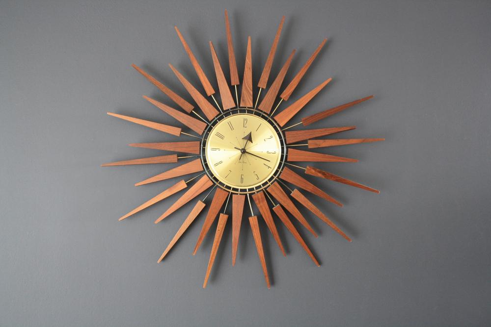 Copy of Mid-Century Modern Seth Thomas Star Burst Clock