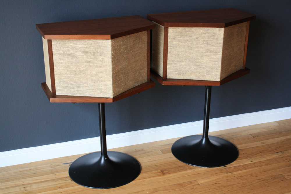 Vintage Bose Speakers with Tulip Bases