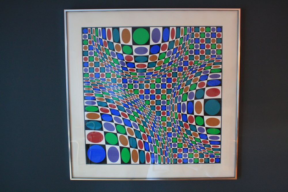 Framed Optical Art Serigraph signed Victor Vasarely 16/250