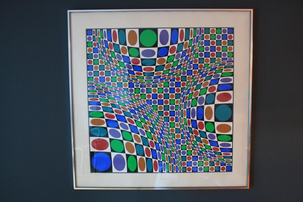 Framed Optical Art Serigraph signed Victor Vasarely 16/250