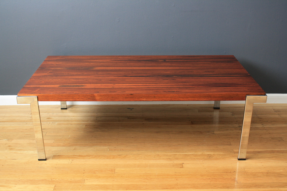 Vintage Rosewood Coffee Table by Milo Baughman