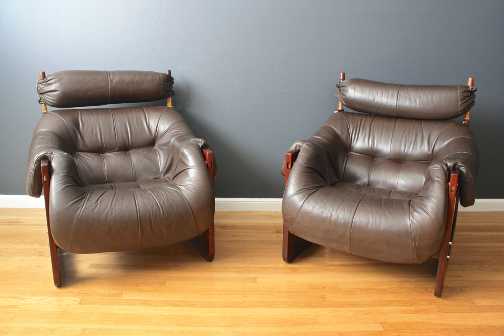 Pair of Vintage Lounge Chairs by Percival Lafer