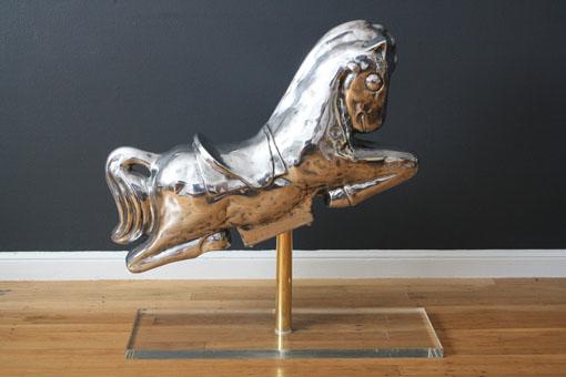 Vintage Polished Aluminum Horse