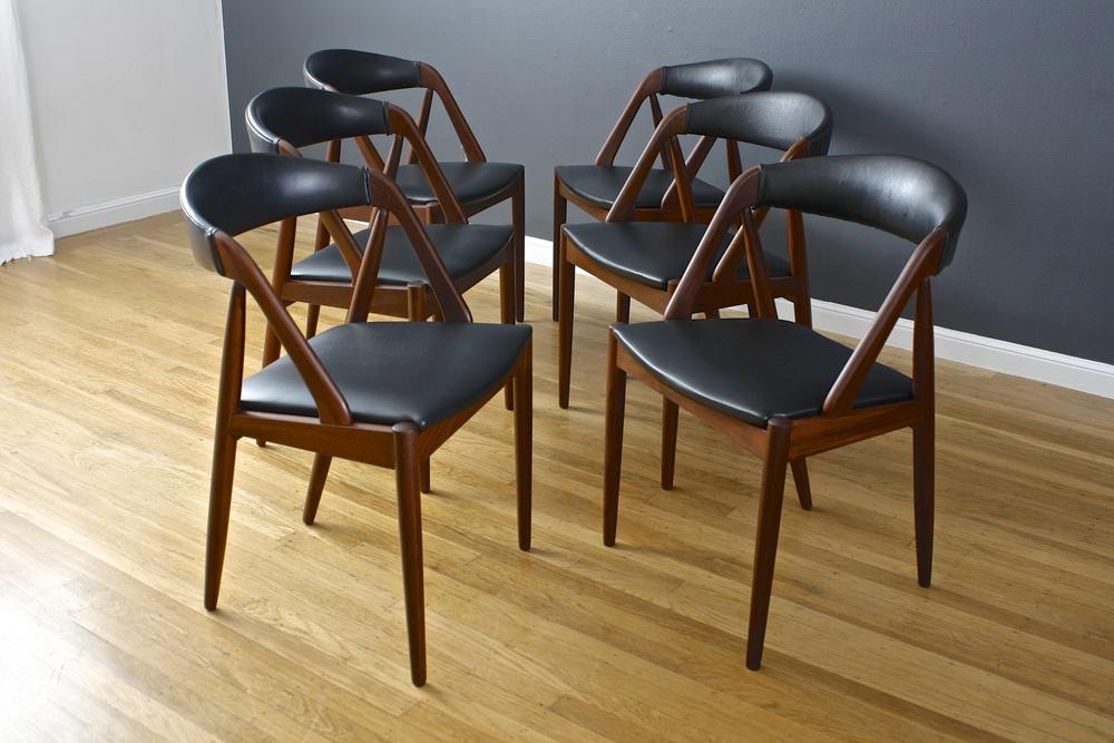 Set of Six Kai Kristiansen Dining Chairs