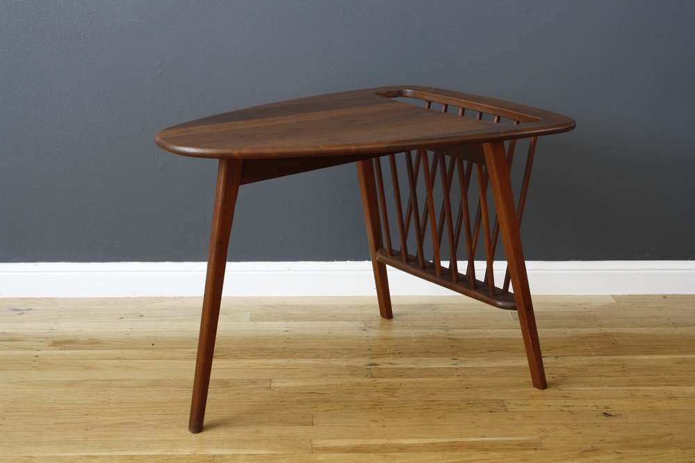 Arthur Umanoff Side Table with Magazine Rack