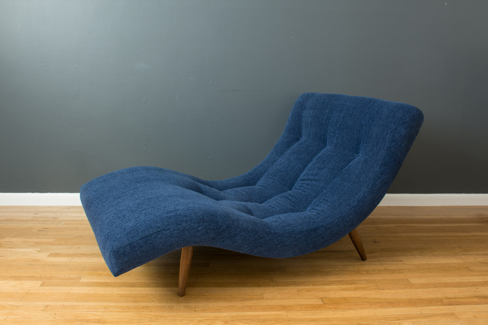 Vintage Mid-Century Chaise Lounge Chair by Adrian Pearsall