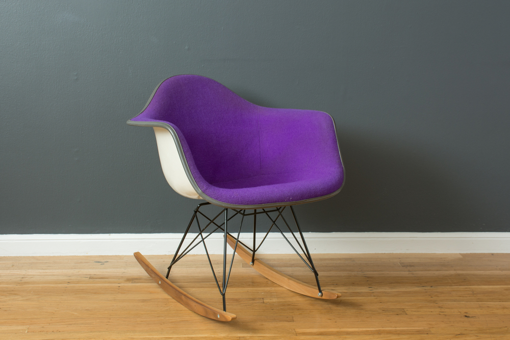 Vintage Purple Eames Rocking Chair