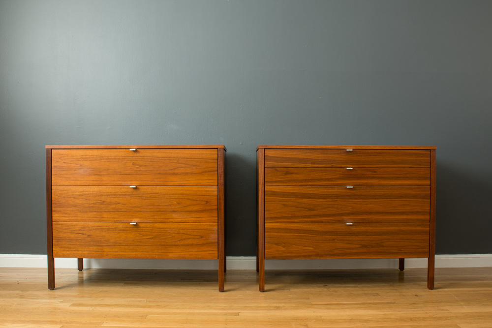 Pair of Vintage Knoll Dressers