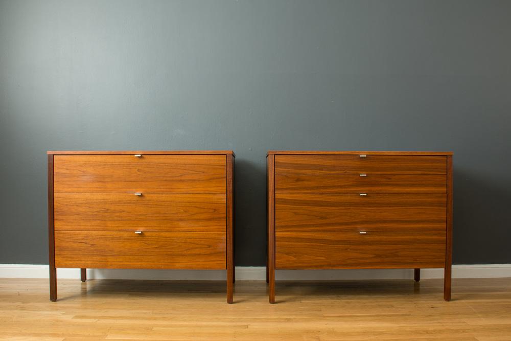 Pair of Vintage Knoll Dressers