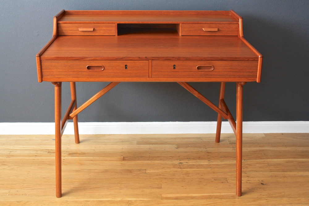 Danish Modern Desk by Arne Wahl Iversen