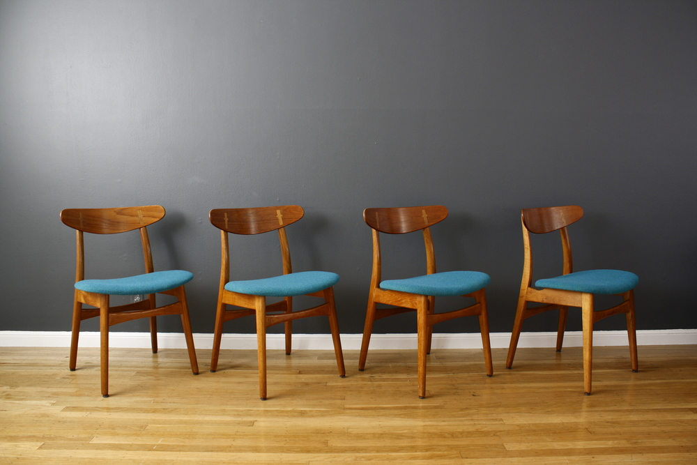 Copy of Set of Four Hans Wegner CH-30 Dining Chairs