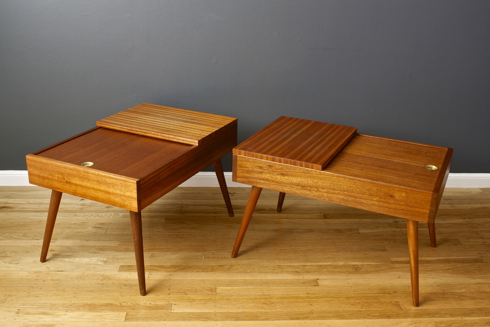 Copy of Pair of Vintage Mid-Century End Tables by John Keal for Brown Saltman