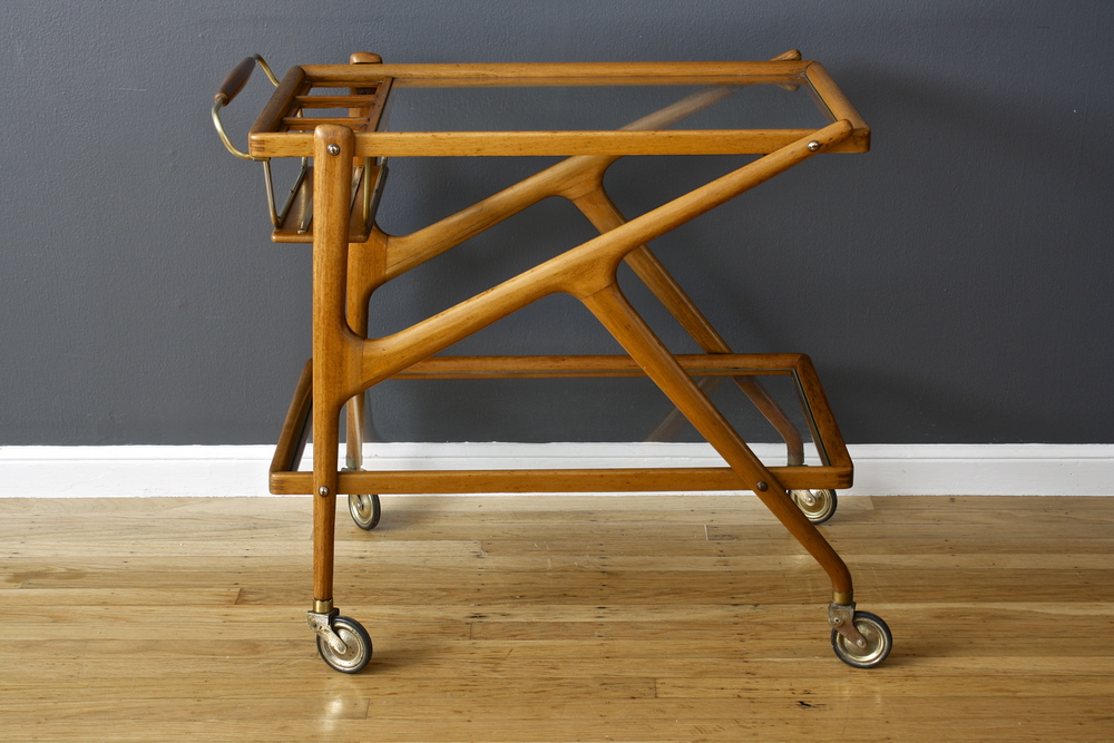 Vintage Mid-Century Italian Bar Cart by Salca